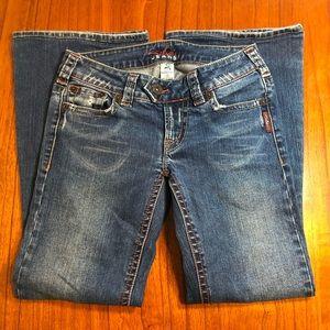 Silver flare leg jeans